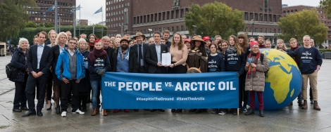 People Vs. Arctic Oil; Today in Oslo an unprecedented legal case is filed against the Norwegian government for allowing oil companies to drill for new oil in the Arctic Barents Sea. The plaintiffs, Nature and Youth and Greenpeace Nordic, argue that Norway thereby violates the Paris Agreement and the people's constitutional right to a healthy and safe environment for future generations. The lawsuit has the support of a wide group of scientists, indigenous leaders, activists and public figures.