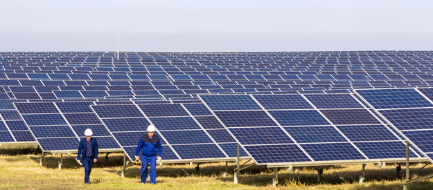Nikolayevka solar power station in Crimea