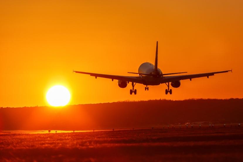 Airplane Airport Aviation Sun Sunset Vacation Holidays Travel Tr