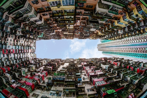 Crowded Housing In Hong Kong
