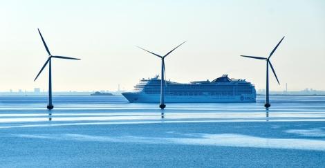 Copenhagen, Denmark - July 15, 2017: The Cruise Sip Msc Magnific