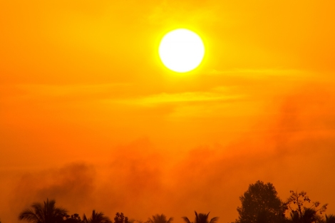 Global Warming From The Sun And Burning, Heat Wave Hot Sun, Clim